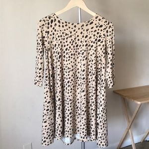 Fighting Eel Dress Ashely leopard print 3/4 sleeve